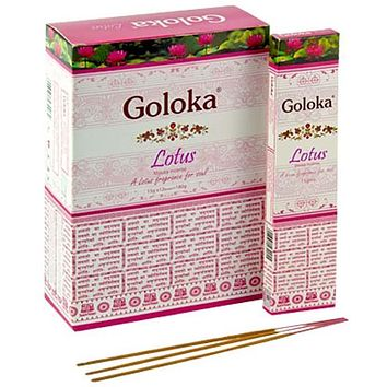Goloka Lotus Incense - 15 Gram Pack (12 Packs Per Box)
