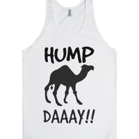 Hey it's Hump Day Tank top tee t shirt-Unisex White Tank