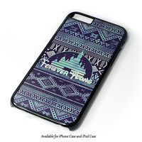 Forever Young Disney Aztec Pattern Design for iPhone and iPod Touch Case