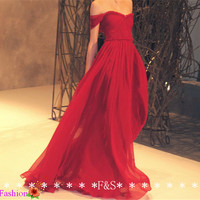 Red Long Maxi Dress, Sexy Prom Dress, Long Off the Shoulder Bridesmaid Dress Red, Strapless Evening Dress Sexy, Red Evening Gown, Prom Dress