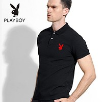 Hot Sale Playboy Mens Polo Shirt 100% COTTON TOP