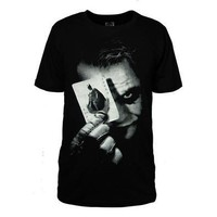 Batman the Dark Knight Joker Logo Men's Short  CottonT-Shirt [10312515651]