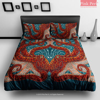 Mosaic Art Octopus Bedding Sets Home & Living Soft Fabric Duvet Cover 050