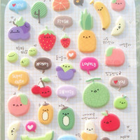 Puffy Suatelier Deco sticker art stickers - Bittersweet 1 Sheets SS1005