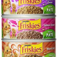 Purina Friskies Classic Pate Wet Cat Food, 5.5 oz, Pack of 24 Cans