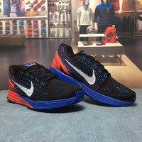 """""""NIKE"""" Fashion Casual Multicolor Knit Breathable Fly Line Unisex Sneakers Couple Running Shoes"""