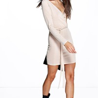 Evie Rib Knit Belted Dress
