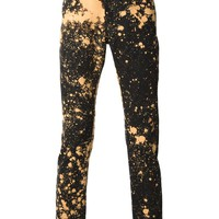 Raf Simons Sterling Ruby bleached skinny jeans