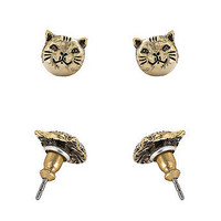 American Apparel - Gold Plated Earring Pair - Cat