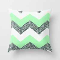 Green with Envy Throw Pillow by Pink Berry Pattern