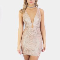 SZ LARGE Cape Town Gold Sequined Mini Dress