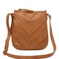 Stacked Chevron Cross-Body Bag by Charlotte Russe