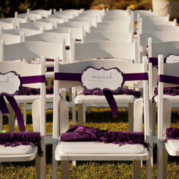 Reserved Wedding Signs Purple Rustic Elegant by pghpapercraft