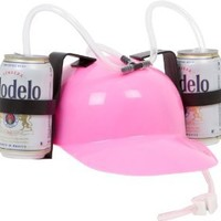 EZ Drinker Beer and Soda Guzzler Helmet (Pink)