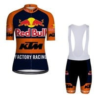 Cycling Jersey 2018 Mens sets for ktm short sleeve and bib shorts suit yellow retro bike clothing men or women pro cycle clothes