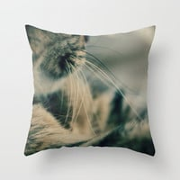 Whisker Whispers Photo Throw Pillow Cover 16x16 18x18 20x20 inches Easy Decorating Cat Abstract Living Room Bedroom Gift Idea Animal Unique