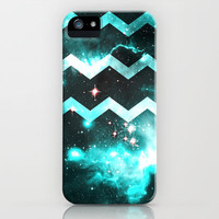 Blue Star Chevron iPhone Case by TheLeb