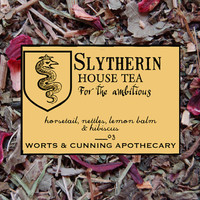 SLYTHERIN House Tea Organic by wortsandcunning on Etsy