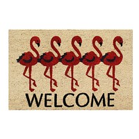 """First ImpressionFlamingo Welcome Mat, 18"""" X 30"""""""