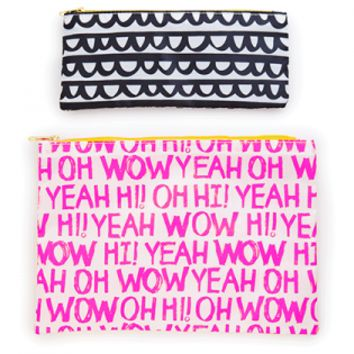 Carry-all Zipper Pouch Duo Set - Chit Chat or Dottie