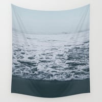 Out to Sea Wall Tapestry by Leah Flores