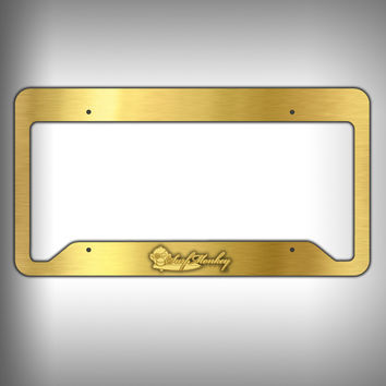 Gold Custom Licence Plate Frame Holder Personalized Car Accessories