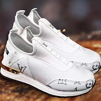 Louis Vuitton Shoes LV Newest Popular Women Casual Shoes Sneakers Breathable Socks shoes White