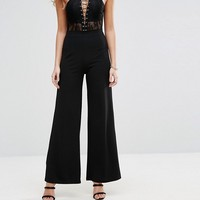 NaaNaa High Waisted Wide Leg Tailored Pant at asos.com