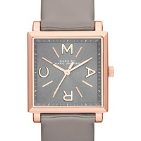 Marc by Marc Jacobs Watches Women's Women's Square Leather Strap Watch