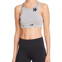 Spiritual Gangster Stars High Neck Sports Bra | Bloomingdales's