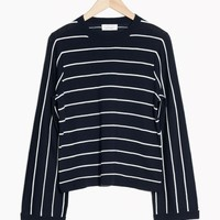 & Other Stories | Pinstripe Sweater | Navy