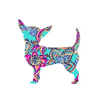 Chihuahua Dog Puppy Lilly Decal, Inspired Decal Monogram, Sticker , Lilly car decal, Dog Yeti decal Custom Decal, Chihuahua Mom,  Chihuahua