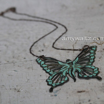 FAIRY Necklace Beautiful Spring Fashion Fresh Finds Green Patina Strength Purposeful Statement Chic Hip