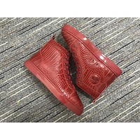 Christian Louboutin Cl Louis Orlato Red Sneakers