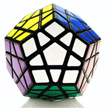 Dodecahedron magic cube 12 surfaces speed White Black twist Polygonal Toy Puzzle Rubiks Cube    black