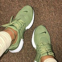 Nike Air Presto Olive Green Woman Personality Sport Running Shoes Sneakers