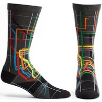 MTA Vignelli Diagram Subway Sock
