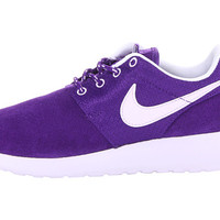 Nike Kids Roshe Run (Little Kid/Big Kid) Electro Purple/White/Voilet Frost - Zappos.com Free Shipping BOTH Ways