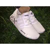OFF White x Adidas NMD Boost 3M Light Up Color White Men Women Sneaker BA7546