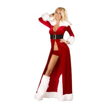 Roma Costume 3Pc Sexy Miss Claus