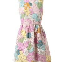 Browns fashion & designer clothes & clothing | VALENTINO | Lace and Mesh Floral Dress