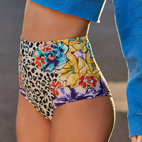 Out From Under Printed Flat High-Waisted Bikini Bottom | Urban Outfitters