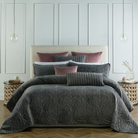 Genevieve Coal Coverlet OR Accessories by Bianca