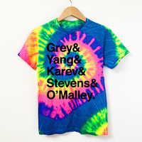 Grey Anatomy Rainbow Tie Dye T-Shirt