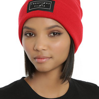 Twenty One Pilots Red Logo Beanie