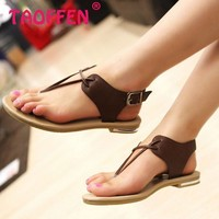 women real genuine leather bohemia slippers summer party flat sandals sexy fashion brand heeled ladies shoes size 34-39 R5744