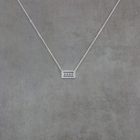 Chicago Flag Silver Necklace