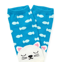 FOREVER 21 Dreaming Cat Ankle Socks