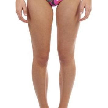 Bikini Bottom in Paisley Print with O-Ring Sides