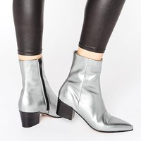 ASOS RETSELLA Leather Ankle Boots